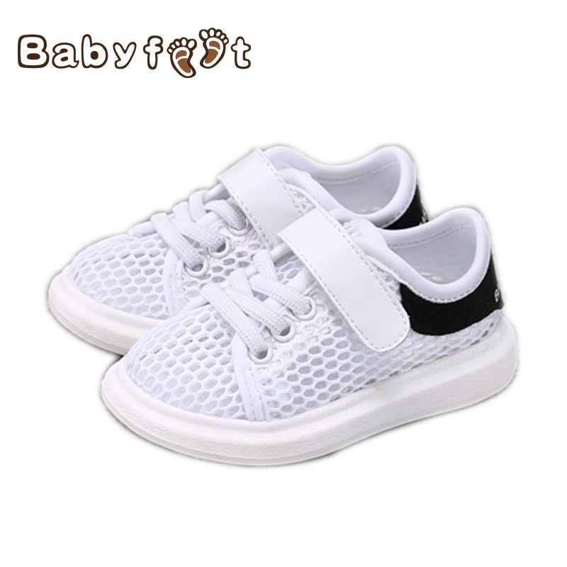2017 Summer New Style Baby Girl Boy First Walkers Breathable Mesh Soft Sole Hook&Loop Prewalker  Casual Sport Running Shoe baby girl prewalker shoes infant girl mikey sneakers mouse flower pink soft sole pram shoes sapato infantil menina zapatos bebes