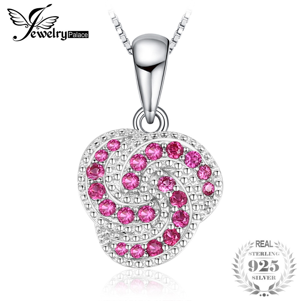 Knot Round Cubic Zirconia Anniversary Pendant 925 Sterling Silver Does Not Include a Chain Fashion for Women