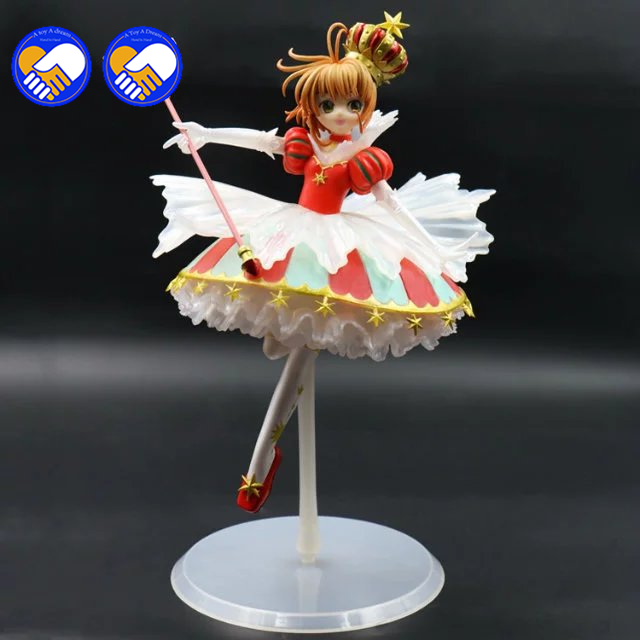 A toy A dream 26cm Card Captor Sakura costume cosplay for girls princess maid lolita dress Kawaii Christmas dress high quality цена 2017