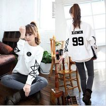 2016 free shipping  EXO SNSD  loose sweatshirt autumn and winter