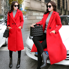 Women's Winter Jackets And Coats Single Button Elegant Warm Women Woolen Coat Thicken Long Plus Size Women X-long Coat Jackets