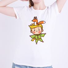 France Anime The Little Prince Fox T Shirt Modal Women Summer White T-s
