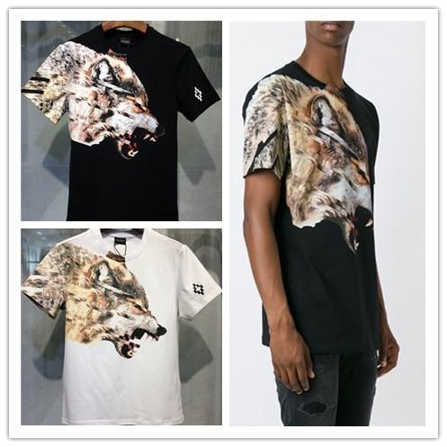 Marcelo Burlon Magliette Uomini Donne 1 1 3D Lupo animale Stampa MB T Shirt  Hip Hop Style Marcelo Burlon abbigliamento Camisetas Hombre Tee in Marcelo  ... 4df68e57ed85