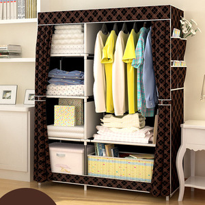 Image 3 - Minimalist Modern Reinforced Large Wardrobe DIY Non woven Foldable Portable Clothing Storage Cabinet Dustproof Cloth Closet