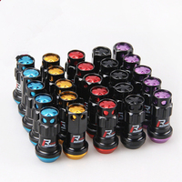 20 Pcs Aluminum Racing Lug Nuts R40 Style Length 44mm Wheel Nuts Steel M12x1.5 Extended Tuner + 2 set security key