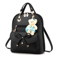 Fashion All Match Female PU Women Backpack Casual Preppy Leather Dual Use Black Backpacks S Ladies