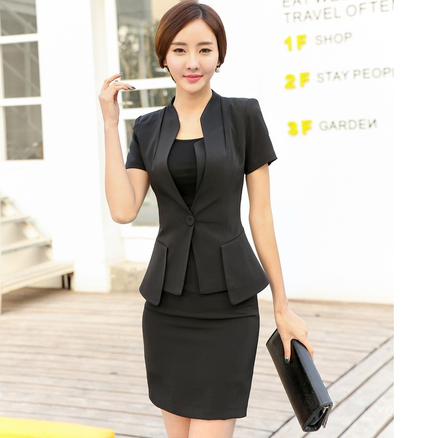 Wonderful 2017 Suit Jacket And Skirt 2015 New Women Business Work Wear Ladies Office Suit Uniform Style Ol ...