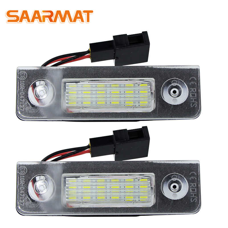 LED CANBUS License Plate Lights Number For VW Skoda Octavia ll Facelift 09-12; Facelifted 2003-2012; Roomster 5J 2006-2010)