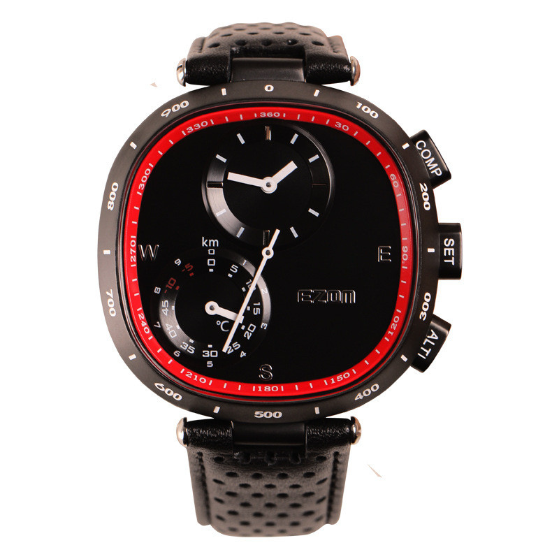 EZON climbing the table professional climbing PU strap wearable smart devices compass altimeter men watch counter