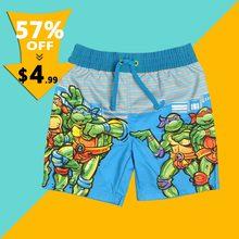 d9bce548a2621 2018 baby boys Summer Ninja Cartoon Beach pants Children Fashion surfing  Board Shorts kids Swimwear clothes for 3-8 years old