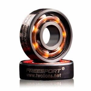 Image 3 - FreeSport 608 Hybrid Ceramic Bearing ABEC 9 inline Skate Bearings FreeLine Skate Skateboard LongBoard HandSpinner Rodamientos
