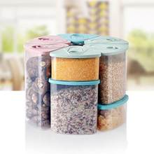 c24f04b250c6 Triangle cereal grains storage tank Covered plastic sealed cans Food  storage box size S M
