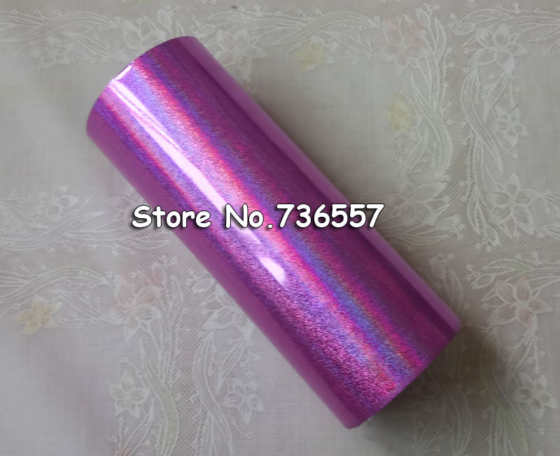 Hot stamping foil Holographic foil hot stamping on paper or plastic 16cm x 120m pink sand Color