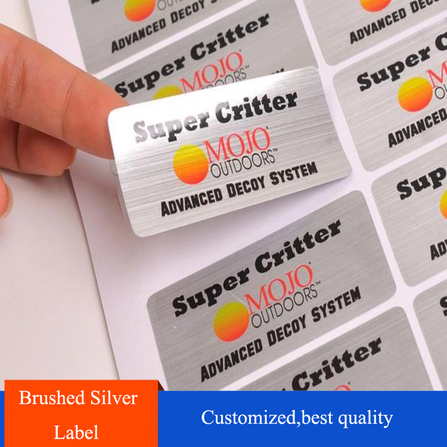 Custom design printed colors plastic pet silver drawing sticker label printing with cost effective price