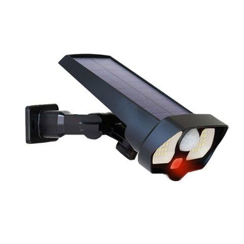 2 modos de trabalho luzes solares ao ar livre sensor de movimento noite seguranca lampada
