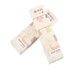 6 пачек/Лот Прекрасный милый кот день коробку бумажные закладки бумага держатель страницы Сообщение memo pad papeleria оптовая продажа