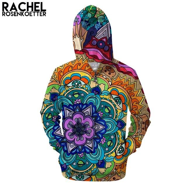 c73e38e420e3 Microcosme Mandala Par Rachel RosenkoetterArt 3D Motif À Capuche Fermeture  Éclair Sweat À Capuche Hommes Zip