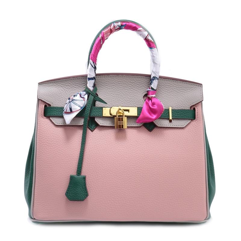 2017 New Fashion Women Handbag Genuine Leather Female Bag Famous Brand High Quality Shoulder Bag for Girls Summer Messenger Bags