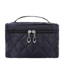 Women Travel Cosmetic Bags Diamond Lattice Zipper Men Makeup Bags Organizer Beauty