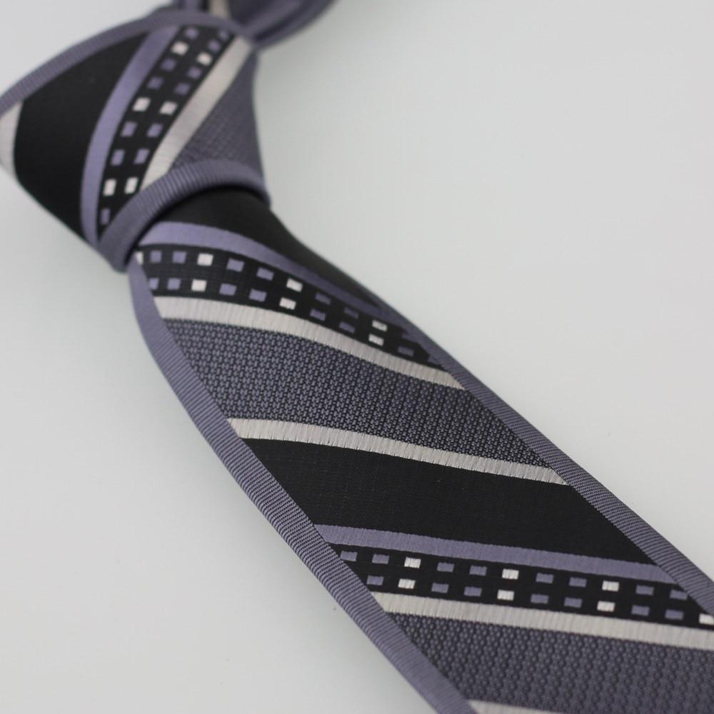 Yibei Coachella Галстуки серого чугуна галстук граничит с серебристо-серый в клетку диагональные полосы Gravatas жаккардовая Для мужчин Классические Галстуки
