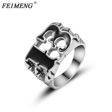 Unique Mens Number Lucky 13 Biker Finger Ring Vintage Claw Punk Rock High Quality Rings For Men Fashion Jewelry Accessories