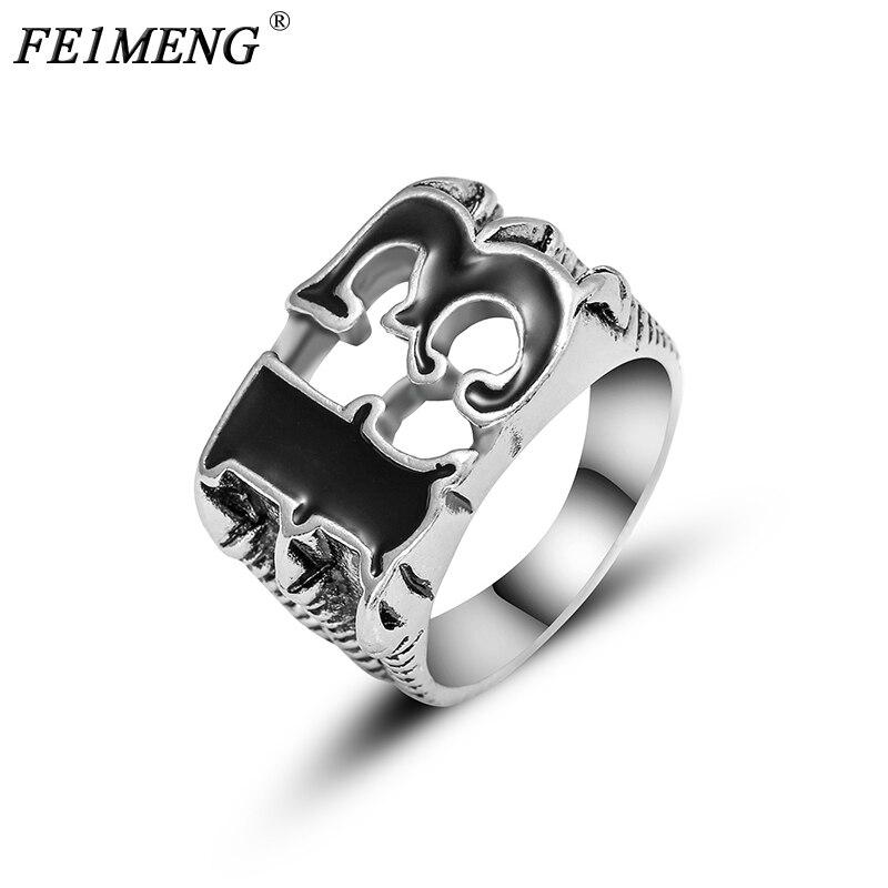 Único número dos homens sorte 13 biker dedo anel do vintage garra punk rock anéis de alta qualidade para homens moda jóias acessórios
