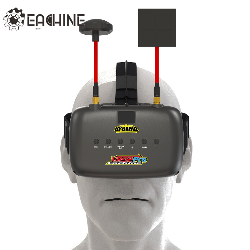 New Eachine VR D2 Pro Upgraded Open Source 5 Inches 800*480 40CH 5.8G Diversity FPV Goggles w/ DVR Lens Adjustable FPV Goggle high quality eachine vr d2 goggles two vr d2 pro fpv goggles spare part 7 4v 2200mah li ion battery for rc toys models