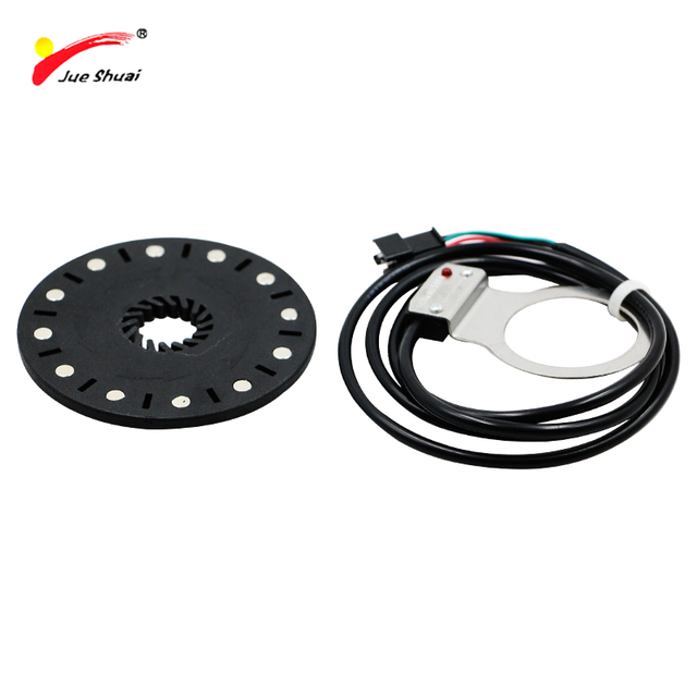 jueshuai Electric Bicycle 12 Magnet PAS Pedal Assistant Sensor Syetem LED LCD Controller Electric Bike Accessories Ebike Parts