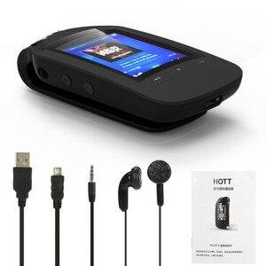 Image 4 - Original HOTT 1037 Bluetooth MP3 lecteur 8GB pince MP3 lecteur de musique Portable Sport podomètre FM Radio SD carte 1.8 pouces écran MP3