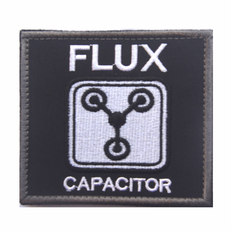CAPACITOR BACK TO FUTURE FLUX embroidery the tactical military patches badges for clothes clothing HOOK/LOOP 7.5CM
