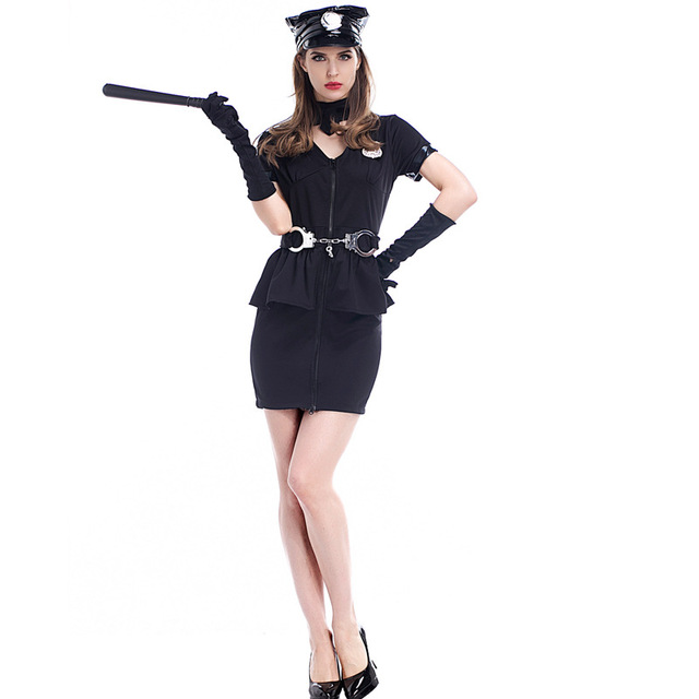 Halloween Costumes For Women Police Cosplay Costume Dress -5069