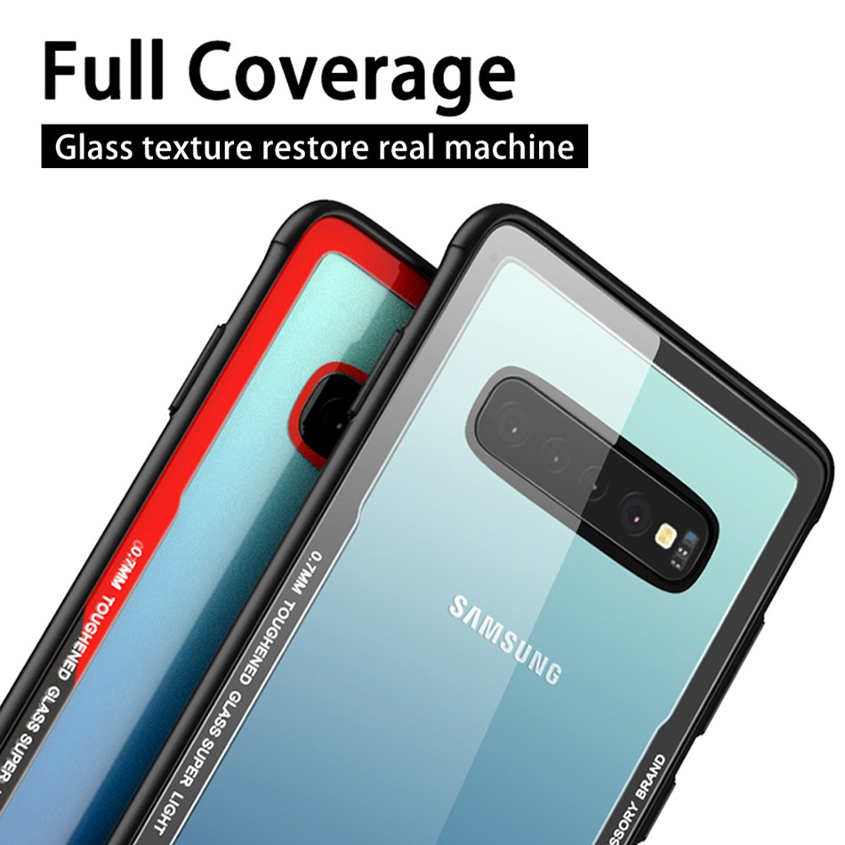 Tempered Glass Phone Case For Samsung Galaxy S10 S10e S10 Plus