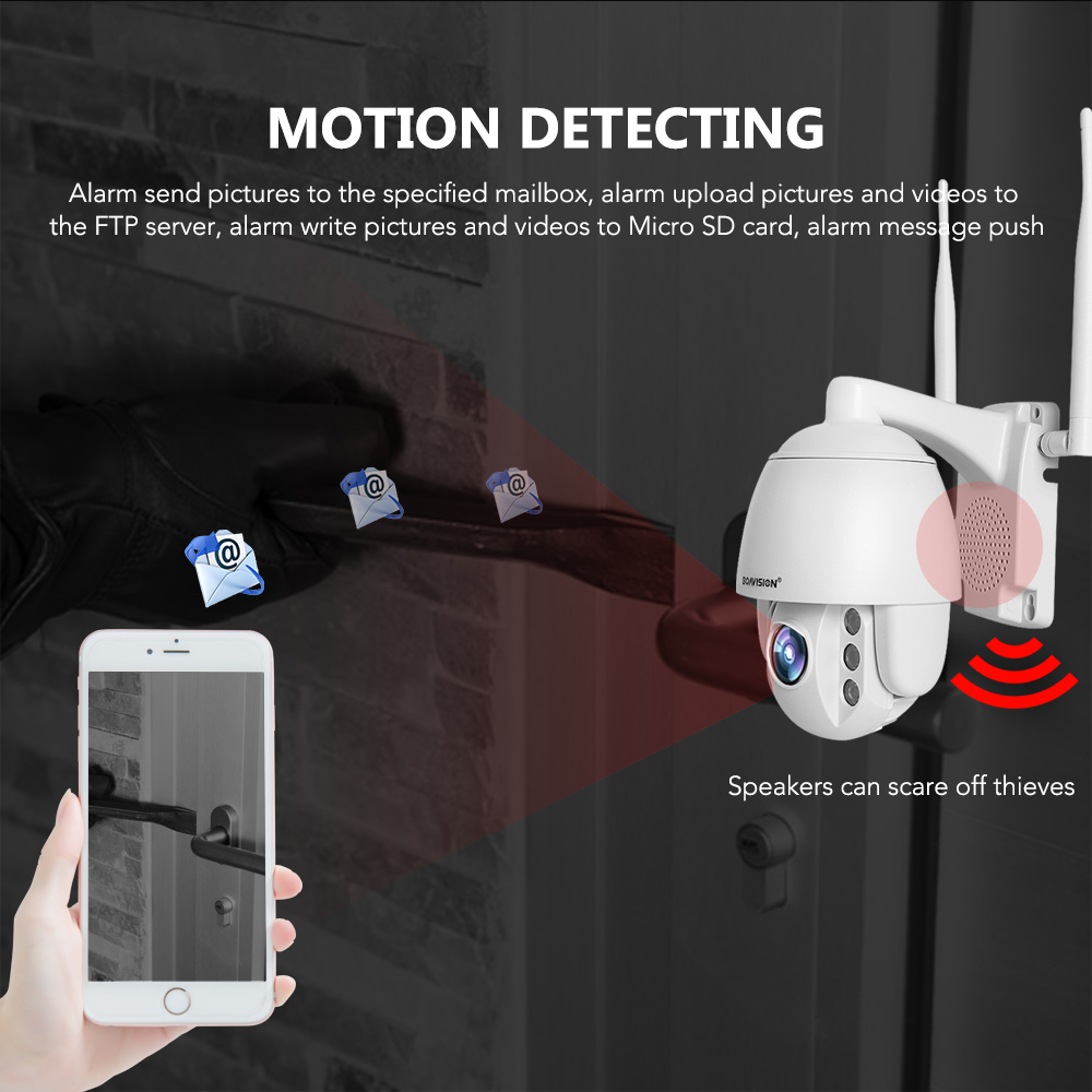 Image 4 - 2MP SIM Card 3G 4G Wireless Mini PTZ Dome Camera 1080P 5MP Outdoor 5X Zoom / 4mm Fixed Lens Two Way Audio CCTV Security Camera-in Surveillance Cameras from Security & Protection