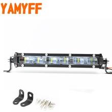YAMYFF 6D 7inch  Mini LED Light Bar Single Row Work Lights Slim Offroad Led Driving Flood Beam 12V 24V