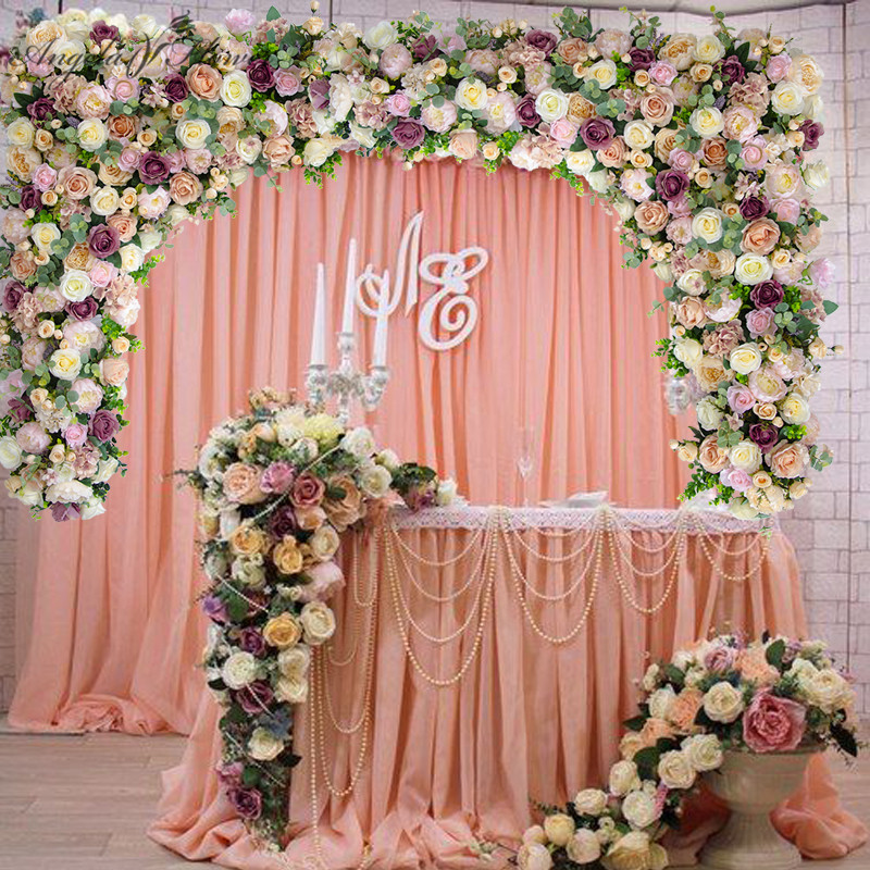 Customize DIY wedding backdrop decor artificial flower ... on Hanging Wall Sconces For Flowers id=24027