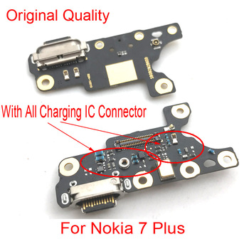 New For Nokia 7 plus 7+ TA-1049 1055 1062 Charger Charging Port Dock Connector Micro USB Port Flex Cable Board Repair Parts jintai micro usb connector charger charging port dock flex cable for lenovo k5 note