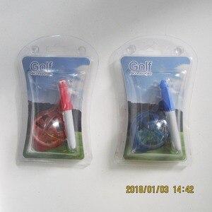 Image 1 - Бесплатная доставка упакованы мяч для гольфа лайнер и ручки Фабрика Горячая продажа мяч для гольфа лайнер и идентификатор маркер