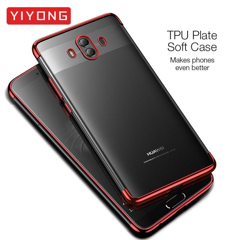 Huawwei Mate 20 10 Pro Case TPU Soft YIYONG Luxury Plating Clear Slim Coque Huawei Mate