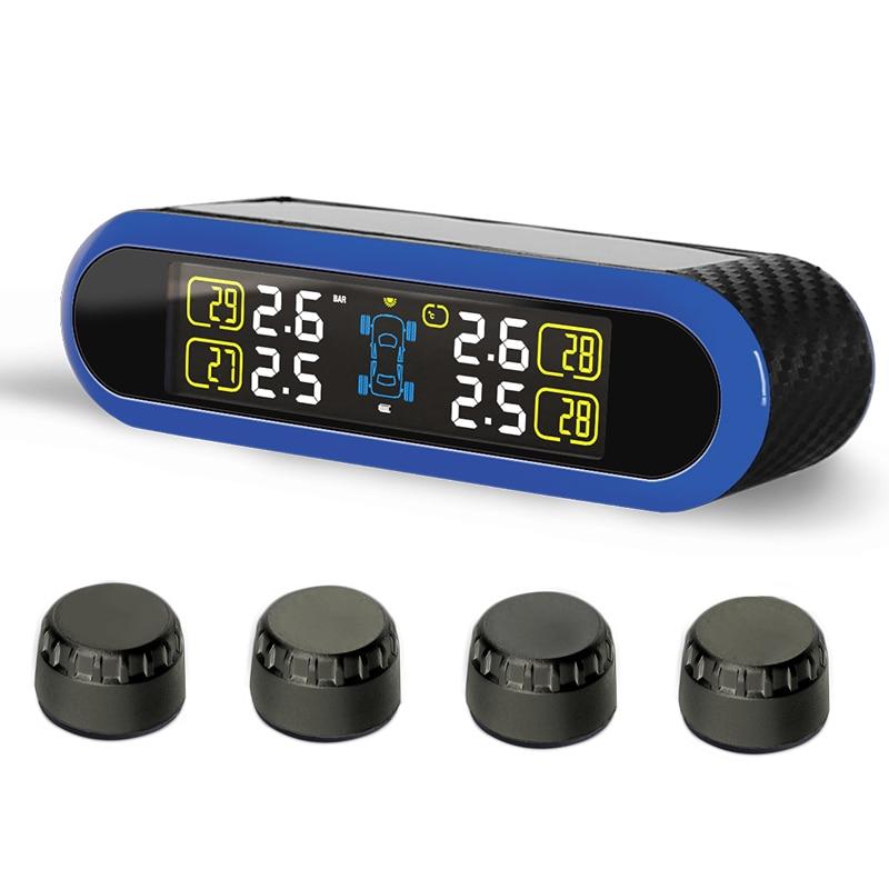 imágenes para Inalámbrico para coche Sistema de Monitoreo de Presión de Neumáticos TPMS con 4 Sensores Pantalla LCD Externa Reemplazable Batería PERSHN T5 WF