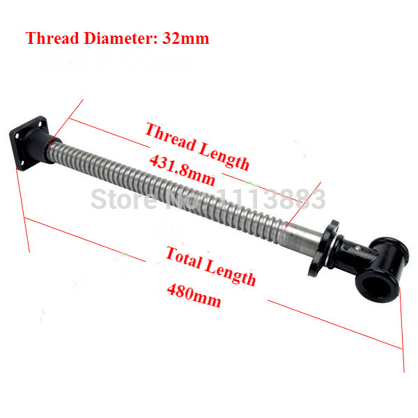 Bench Screw 32mm Diameter Long Type Woodworking Clamp For