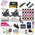 Navio livre DIY 2 Completa Máquina De Tatuagem Kit 20 Cor EUA Tintas de Tatuagem Tattoo Power Supply Com O dom Gratuito