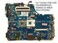 Para toshiba l500 l505 laptop motherboard kswaa la-4981p k000083120 pga 479 ddr2 100% testado