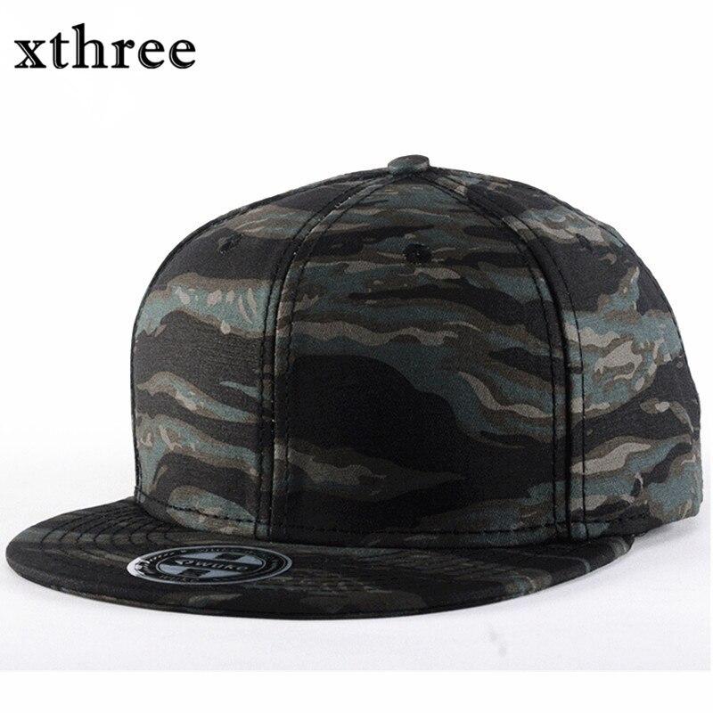 Prix pour Xthree mode de camouflage Casquette de baseball femmes hommes snapback hip hop casquette de sway cap Été automne Chapeau pour hommes armée cap