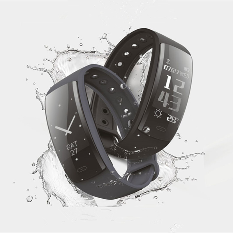 Bluetooth inteligente pulseira pulseira heart rate relógio toque waterprooof mensagem reminder Sono Monitoramento IOS smartwatch Android