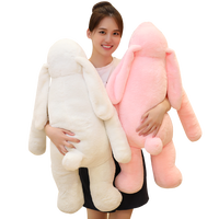 Lovely soft big ear long arm rabbit pillow baby sleeping comfort toy plush rabbit doll gift