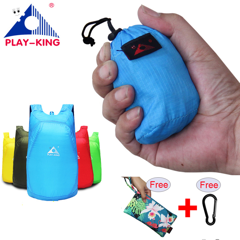 PLAYKING Lightweight Nylon Foldable Backpack Waterproof Back