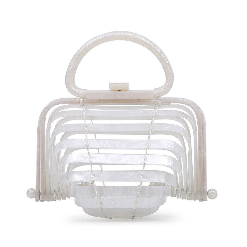 Plastique Acrylique Sac Sacs Creux De Bambou Pliable Panier En Out Plage wUqSA6w