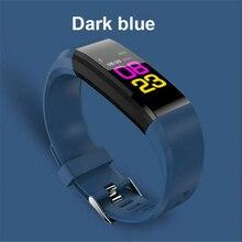 Sports Pedometer Smart Bracelet  ID115 Plus Watch OLED Screen Fitness Running Walking Tracker Heart Rate Pedometer Smart Band цена