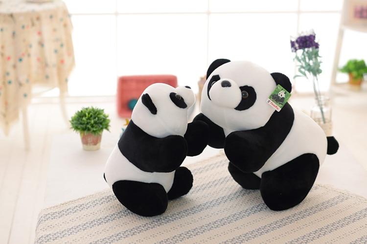 50 cm Jouets En Peluche Belle Simulation Poupée Animaux En Peluche panda Jouet Enfants 20 pouces Noir blanc Décorations D'anniversaire Cadeau Pour enfants