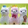 Adorable 10pc/Lot Mixed Color 12cm Crown Arpakasso Soft Plush Stuffed Alpacasso Alpaca Doll Toys, Kids Alpaca Christmas Gift Toy